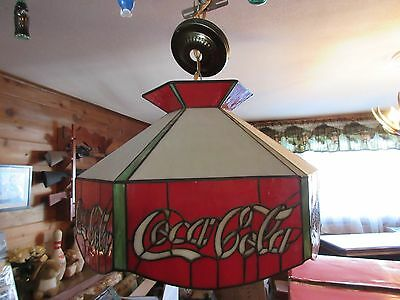 Coca Cola Stained Glass Swag Chandelier Ceiling Lamp