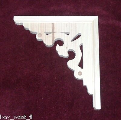 "Victorian Wood Gingerbread {11"" x 10""}  Porch Trim Corbel Bracket #8 ~ by PLD"