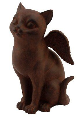 Youngs Resin Flying Cat Figurine  9-Inch
