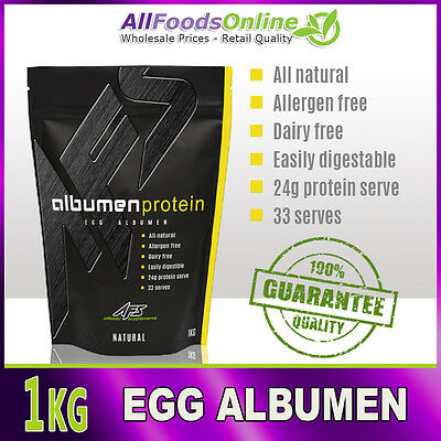 Egg Albumen - Egg White Powder - Egg Protein - Albumen Protein - Natural - 1kg