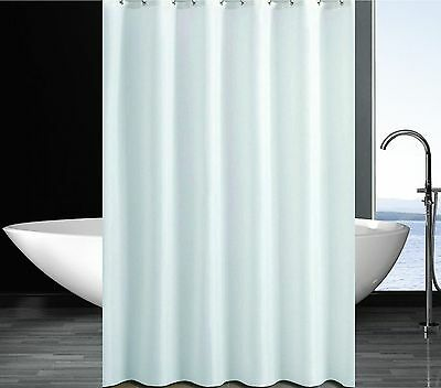 Solid White Shower Curtain 2m x 2.4m Extra Long Free Ship New
