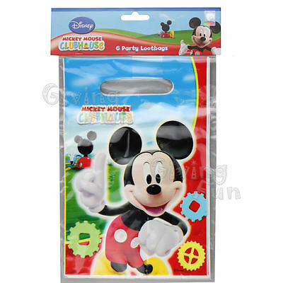 AUTHENTIC Disney Mickey Mouse Clubhouse Birthday Party Supplies 6pcs Lootbags