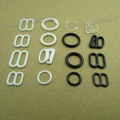 1000set Bra strap Adjustment slide Rings Hooks Figure 8 0 9 Apparel Holder Pick