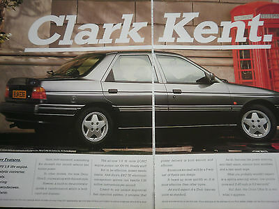 FORD ORION GHIA Si 16v - 2 page COLOUR ADVERT