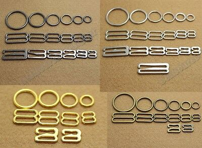 Lots 200 Metal Lingerie Bra strap Adjustment slide Rings Figure 8 0 Clasp Hook 9