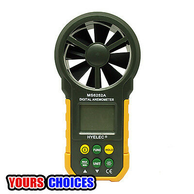 MS6252A Wind Speed Digital Anemometer Air Volume Measure LCD Backlight