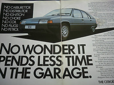 CITROEN BX DIESEL - 2 page COLOUR ADVERT