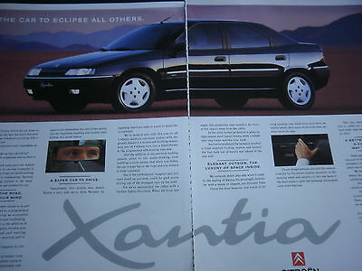 CITROEN XANTIA - 2 page COLOUR ADVERT