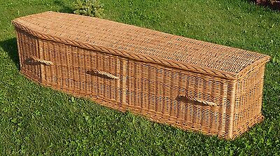 PREMIUM WICKER / WILLOW (Real / Willow /  Funeral Casket) COFFIN  6ft 5''