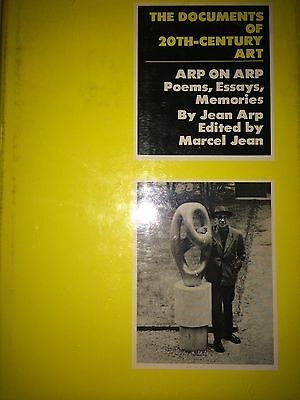 Documents Of 20Th-Century Art Arp On Arp By Jean Arp *First Thus*