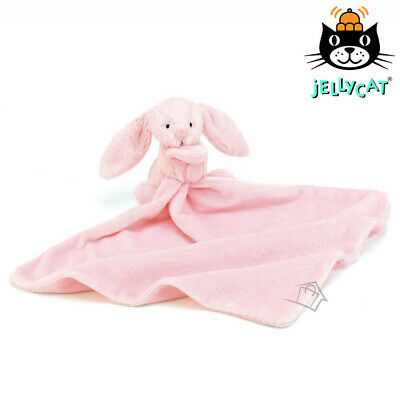 Jellycat Bashful Pink Bunny Soother Baby Newborn Blanket Blankie Comforter NEW