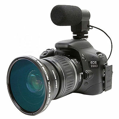 MIC-109 Directional External Stereo Microphone for Canon Nikon DSLR Camcorder