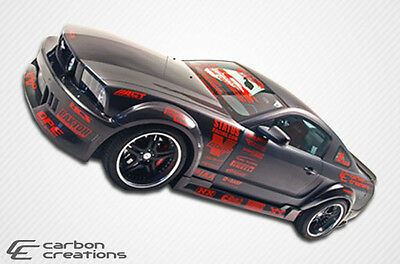05-14 Ford Mustang Carbon Creations Hot Wheels Wide Body Side Skirts Body Kit