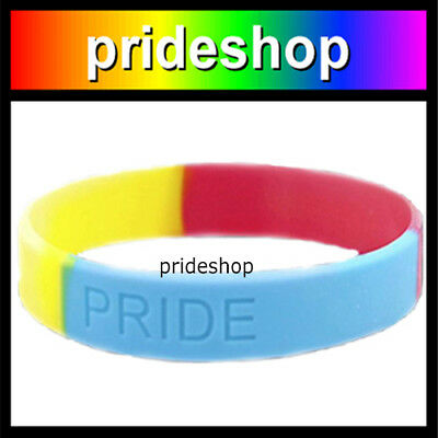 Pansexual Silicone Wristband Rainbow Store Pansexual Pride Wrist Band #886
