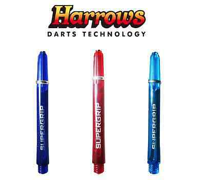 Harrows Supergrip Ring Lock Darts Shafts / Stems - All Lengths - NEW COLOURS!