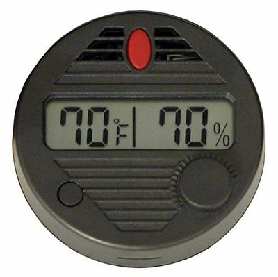 Quality Importers HygroSet II Round Digital Hygrometer for Humidors , New, Free