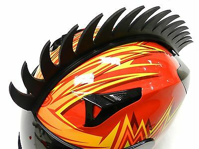 Stick-On Angle Spikes Mohawk Strip For Motorcycle Bike Helmets B