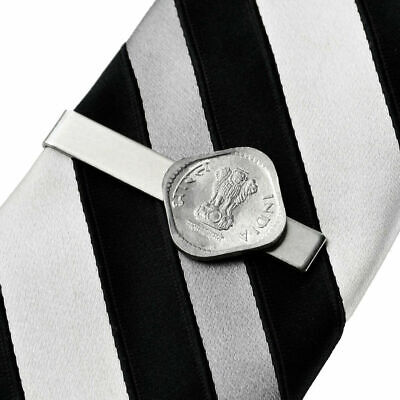 India Coin Tie Clip - Tie Bar - Tie Clasp - Business Gift - Handmade - Gift Box