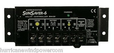 Morningstar  SS-6-12V SunSaver 6 amp 12 volt Solar Charge Controller
