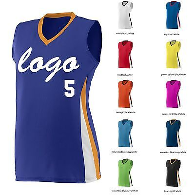 10 Softball Uniforms, Ladies Sleeveless, One Color Logo, Names/Numbers Included.