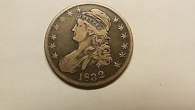 1832 Large Letters Capped Bust Silver Coin Fifty Cent Half Dollar