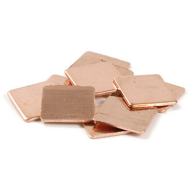 10x 15*15mm Thickness 0.1mm Laptop Heatsink Copper Shim Thermal Pads Sheet