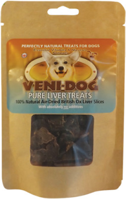 Petcor Veni Dog Pure Ox Liver Slices 40g Air Dried Treats