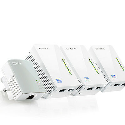 TP-Link TL-WPA4220 AV500 Powerline With 300Mbps integrated Wi-Fi Extender X 4
