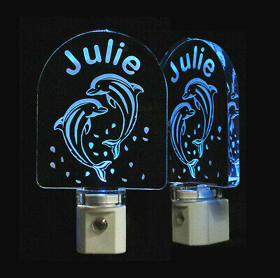 Personalized Dolphin LED Night Light - Custom with Name, Animal Night Light