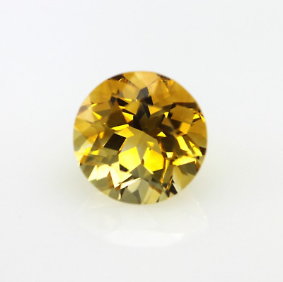 Genuine Natural Golden Citrine AAA Round Faceted (1.5mm-8mm) Loose Stones