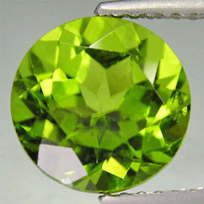 Genuine AAA Round Faceted Natural Apple Green Real Peridot(1.5mm-8mm)Loose Stone