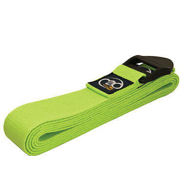 Fitness Mad Yoga Belt Cotton Posture Correction Anti-Straining - 2.5m Green