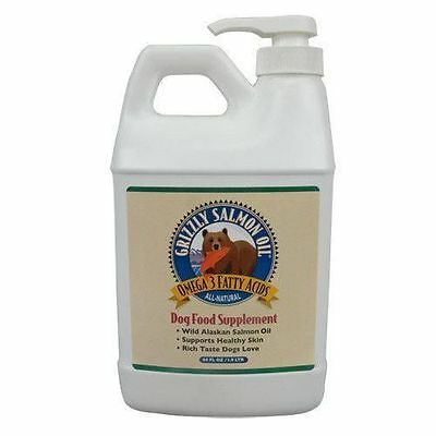 64 OUNCE GRIZZLY SALMON OIL DOG FOOD SUPPLEMENT