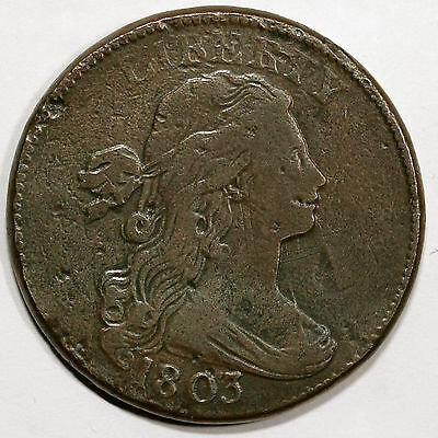 1803 S-263 R-3 Draped Bust Large Cent Coin 1c