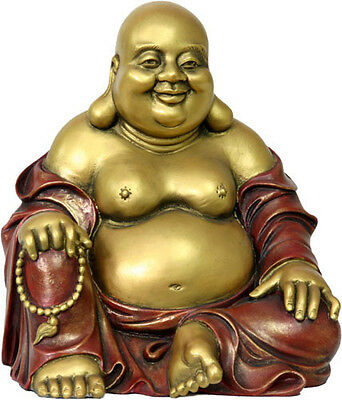 Happy Buddha Laughing Desktop Size Statue Bookshelf Decor O-074GR