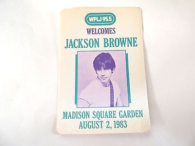"""""""Jackson Browne"""" WPLJ 95.5 Concert Sticker 1983 Mint/ How Cool Is This!!!"""