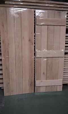 Solid Oak ledged door hinges and suffolk latch furniture plugged screw new 2'6""