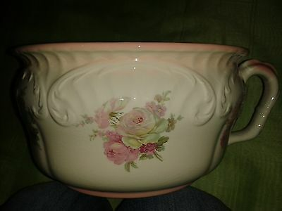 LOVELY SHABBY CHIC JAMES KENT OLD FOLEY PINK ROSES CHAMBER POT DAMAY DIFFUSION