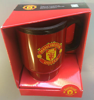 BNWT Manchester United Football Soccer Red Thermal Travel Mug Cup