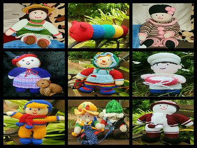 Hand Knitted Dolls, Animals, Items, Child's Gifts, Toys, Decorations, Novelty