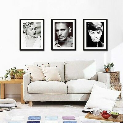 SOLID WOOD Photo Frames with Picture Mount,Set of 3pcs A3
