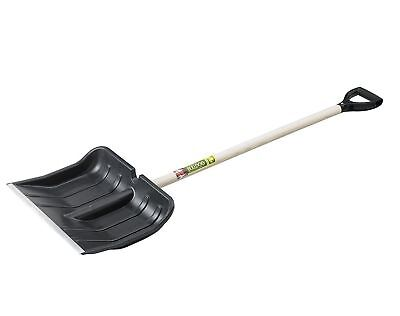 "Bulldog Snow / Utility Shovel 42"" Ash Plastic D Handle Heavy Duty Metal Strip"