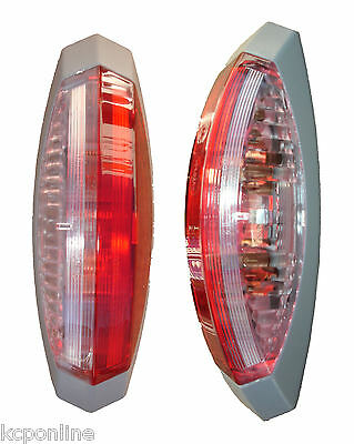 NEW RH Red & White Marker Lamp To Suit Jonkheere Body