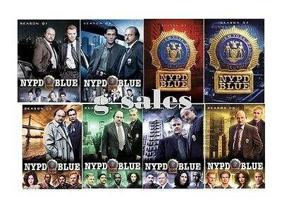 NYPD Blue TV Series ~ Complete Season 1-8 1 2 3 4 5 6 7 8 ~ NEW 43-DISC DVD SET