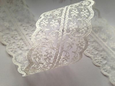 Sparkles Gems Vintage Style Lace Ribbon Trimming Bridal Wedding Scalloped Edge