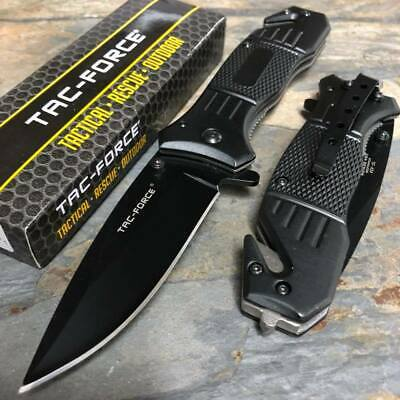 Tac Force Spring Assisted Black Tanto Blade Camping Survival Pocket Knife