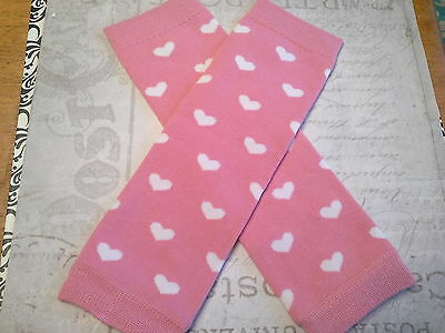 baby girl leg warmers infant toddler arm warmers pink whit hearts valentines day