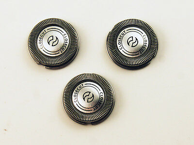 3Pcs Replacement Shaver Heads For Philips Norelco Reflex Plus HQ55 HQ4+ HQ3 HQ2