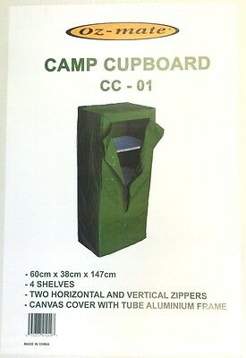 NEW 4 Shelf Camp CUPBOARD FOOD STORAGE - Caravan CAMPING Hiking