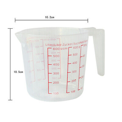 Bulk Lot 24 Plastic Measuring Measure Jug 600ml Small Wholesale